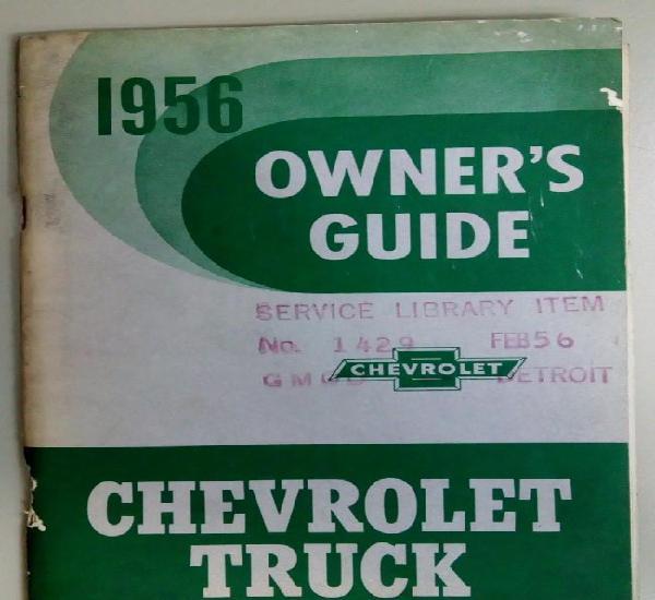 Chevrolet truck owner's guide, manual de instrucciones en
