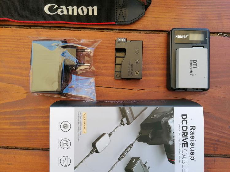 Canon 700d con 2 objetivos