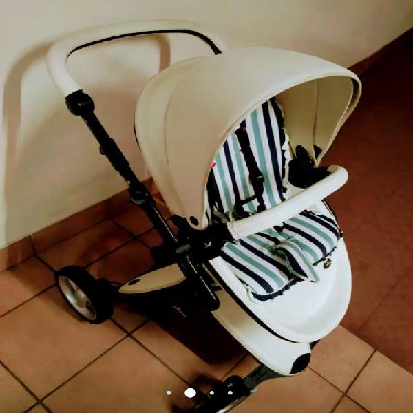 Carrito de bebé mima xari blanco