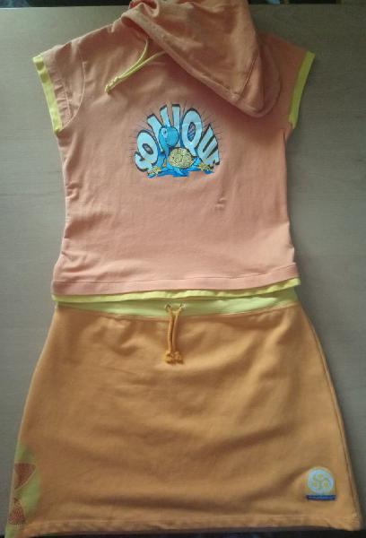 Conjunto camiseta y falda t-s /m