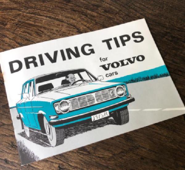 Consejos de conducción para coches volvo, está en inglés