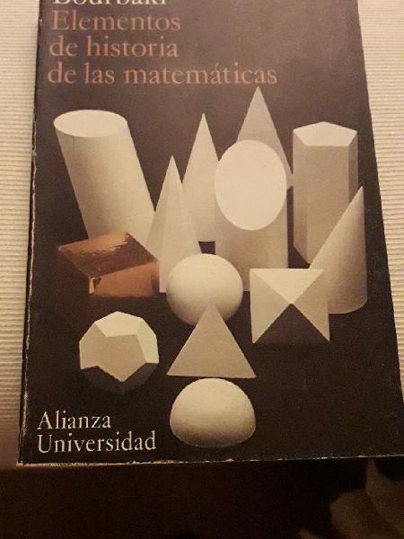 Elementos de historia de las matemáticas, bourbaki