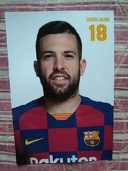 Jordi alba, foto oficial 2019/2020 fc barcelona