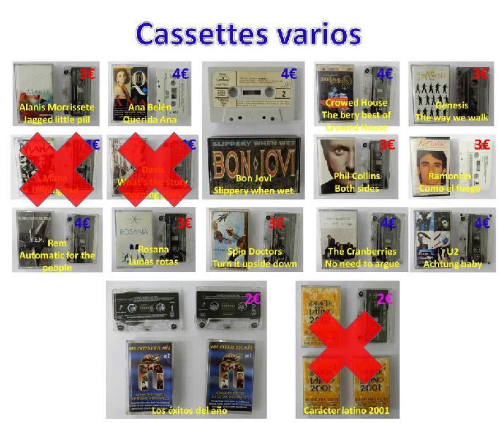 Listado de cassettes que tengo