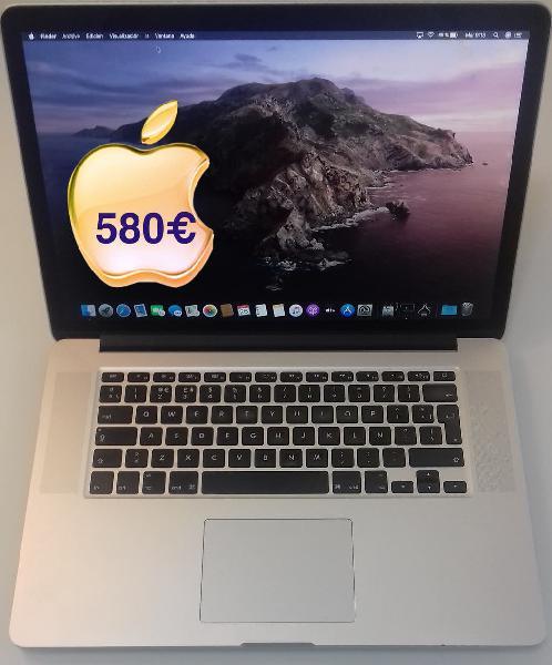 Macbook pro retina 15 i7 2014 8gb modelo end 20