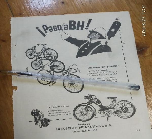 Paso a bh bicicletas y ciclomotores beistegui hermanos