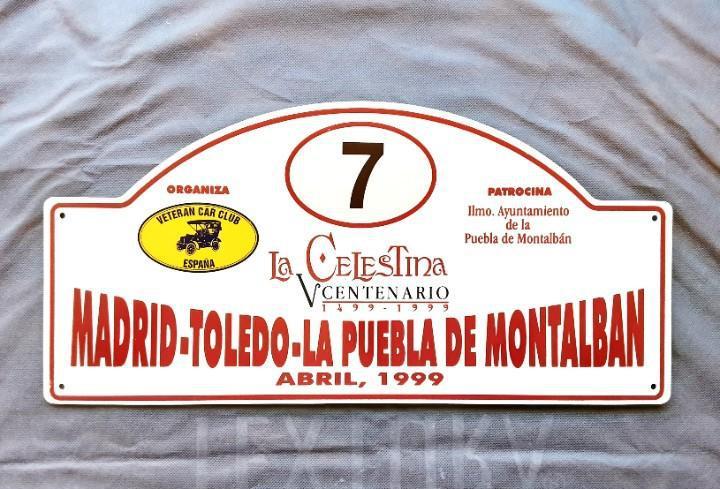Placa rallye madrid toledo la puebla de montalban año 1999