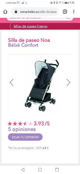 Silla de paseo bebé confort modelo noa