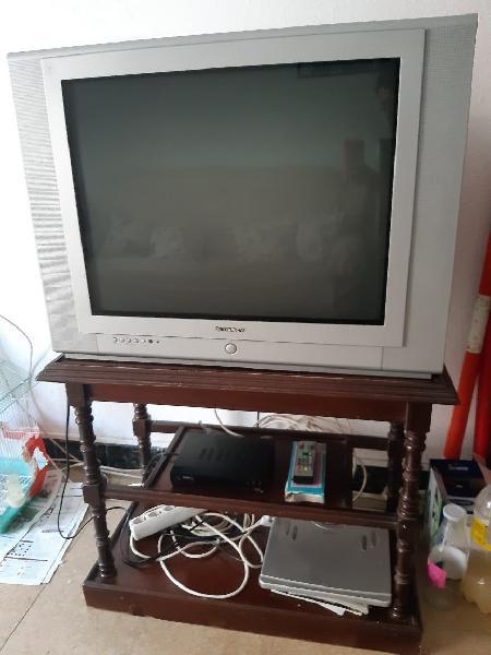 Televisor 21 pulgadas y mesa para tv