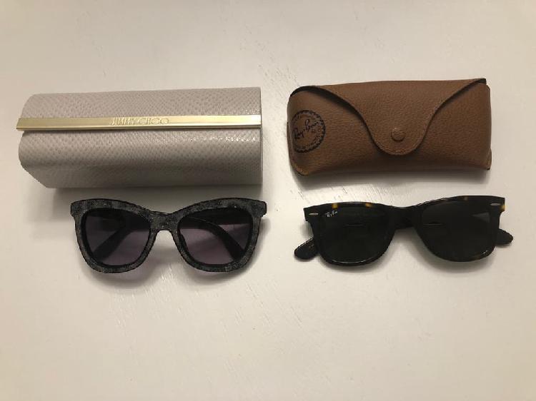 Dos gafas de sol originales con sus fundas