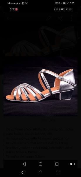 Zapatos de baile talla 38 /39 de estreno rebajado