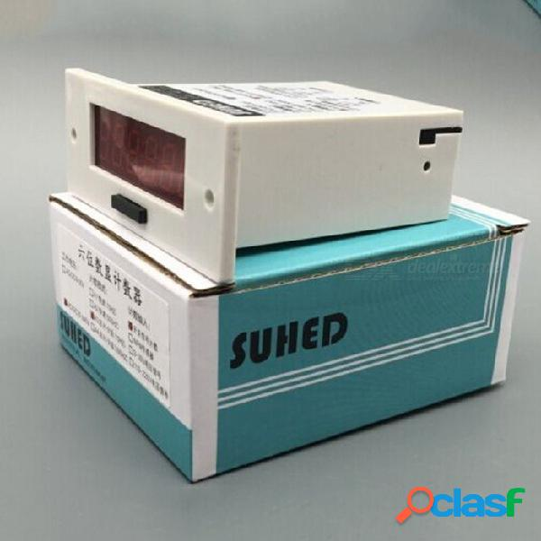 Industrial machinery and equipment work counter punch machinery 6 led digital electronic counters he-06a white