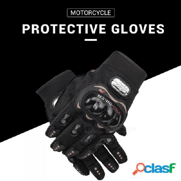 Pro-biker 1 par de motocicletas motocross ciclismo guantes a prueba de choques de carreras guantes tácticos al aire libre equipo de protección negro / m
