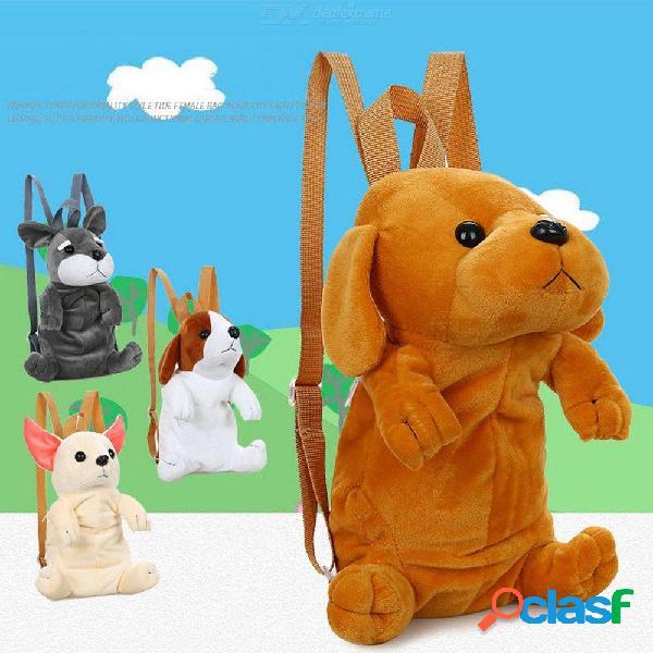 Bolso de la escuela del perro de la historieta de la mochila del perrito lindo de 18 x 12 x 27 cm para el niño