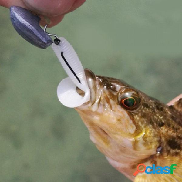 Cabeza de plomo universal 2.1 g 2.8 g 3.8 g contrapeso manivela gancho cabeza cabeza mosca pesca carpa pesca accesorios pesca 10 unids