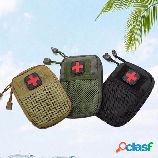 Kit Médico Táctico Autodefensa Camuflaje De Seguridad Kits De Emergencia Bolsa De Accesorios Kit De Primeros Auxilios Para Acampar Al Aire Libre Negro