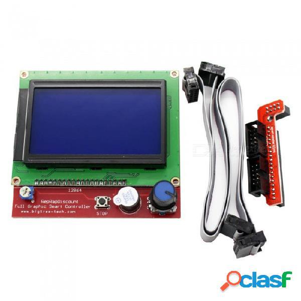 Zhaoyao 12864 lcd incorpora rampas a partes inteligentes, ramps 1.4 monitor de pantalla monitor de la placa base pantalla azul para impresora 3d