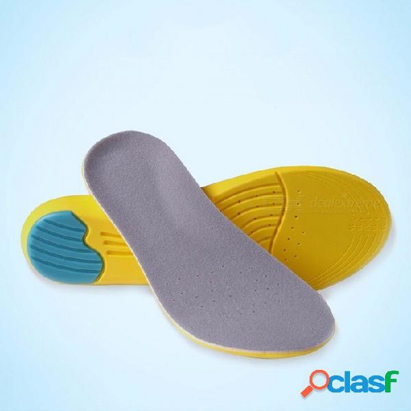 Almohadillas de calzado deportivo de espuma de memoria engrosada eva, plantilla de amortiguación amortiguadora amortiguadora de running de baloncesto para mujer de hombre (1 par) amarillo / 3