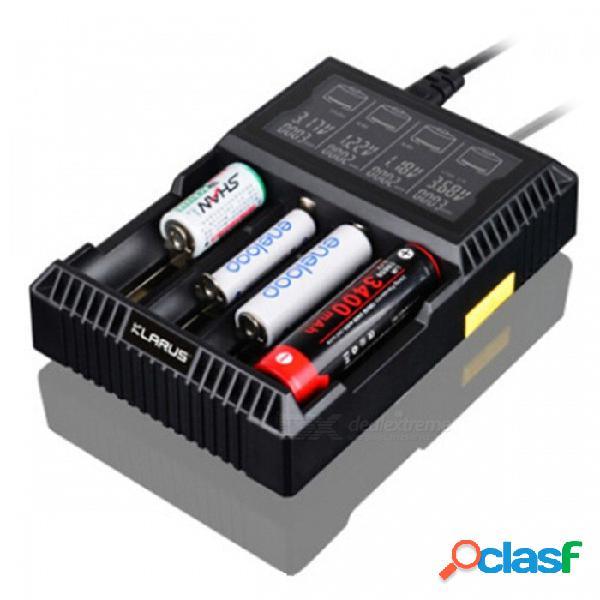 Cargador de batería inteligente de cuatro ranuras klarus ch4s con lcd para iones de litio / ni-mh / ni-cd batterie