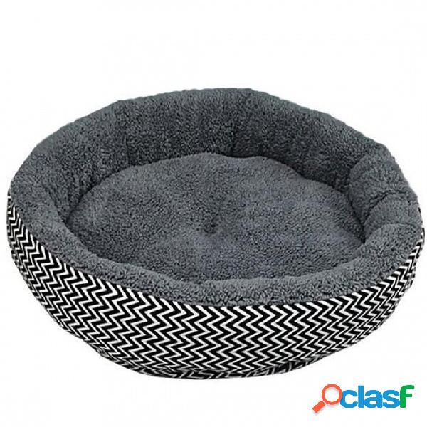 Cojín cálido sofá cama para mascota cachorro perro gato en lona de invierno + material de algodón pp gris color blanco opcional s / blanco