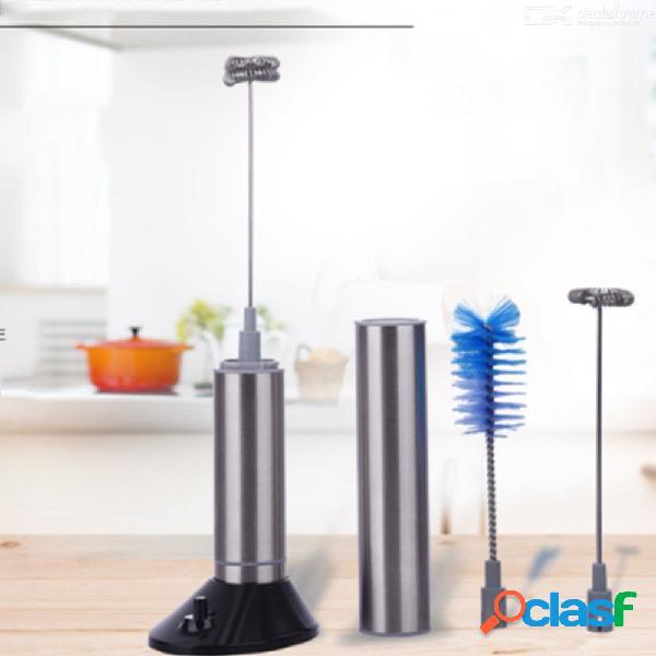 Electrodomésticos de cocina de acero inoxidable, semiautomáticos, de mano, de café, para hacer espuma, para batir huevos.