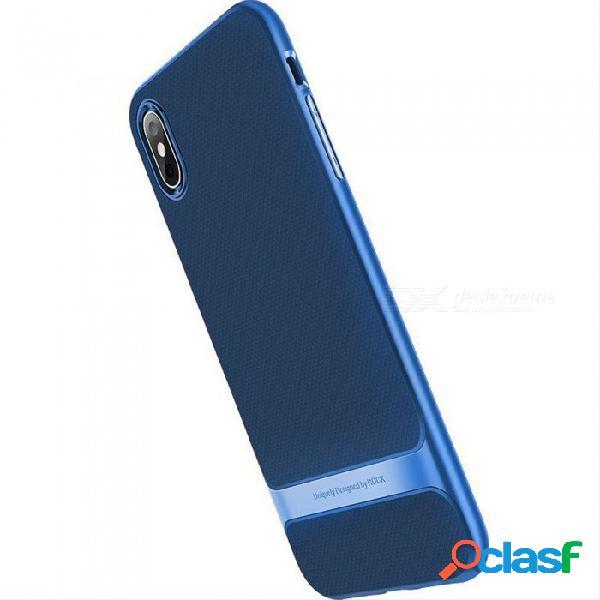 Funda de teléfono tpu antirrayas de cobertura total, delgada y simple de rock para iphone xs, xs plus, 9 negro / iphone 9 6.1