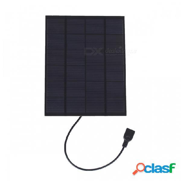 Jedx 5w 5v placa de carga del teléfono celular solar de silicio de un solo cristal con estabilizador de voltaje usb sw5005ureg