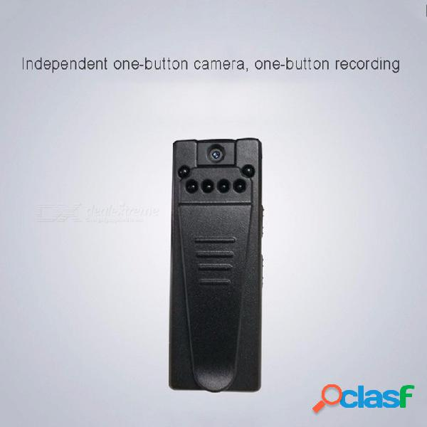 1080p hd mini cámara giratoria con clip de deportes dv, cámara de video con visión nocturna videocámara negra