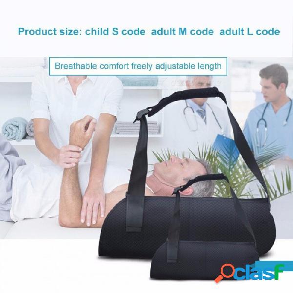 Brazo transpirable muñequera antebrazo brazo, fracturas de hombro dislocadas apoyo brazo soporte negro / pequeño