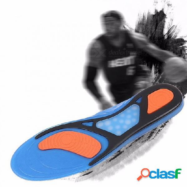 Calzado deportivo unisex antideslizante, amortiguador de balones de fútbol, badminton, soft sport, plantillas de silicona (1 par) sky blue / 35
