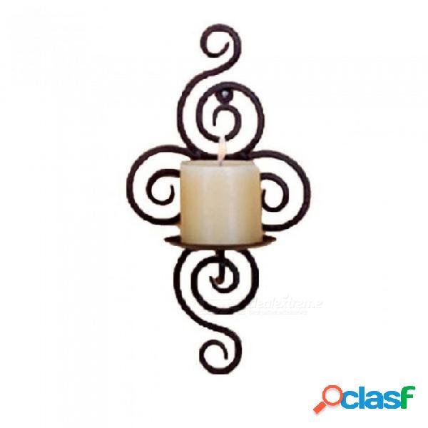 Candelabros de hierro aplique colgante arte de la pared candelabro para la decoración bodas candelabro centros de mesa de la boda de hierro