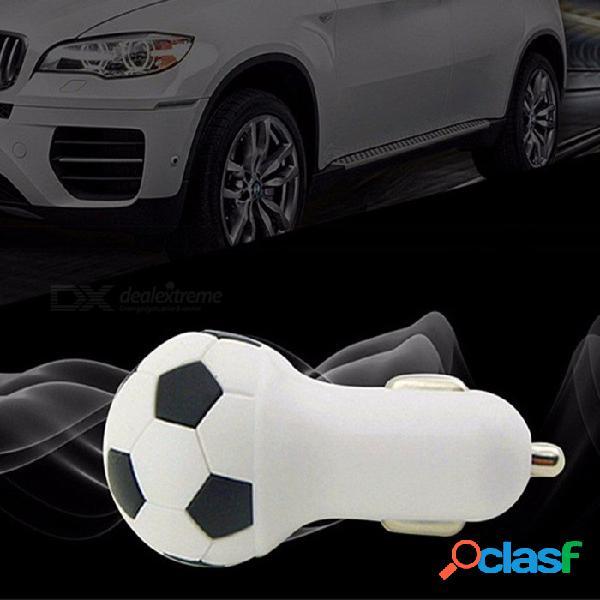 Cargador de carga rápido del cargador del coche del estilo del fútbol 5v 1a del fútbol para iphone, samsung, teléfonos móviles, tabletas púrpuras