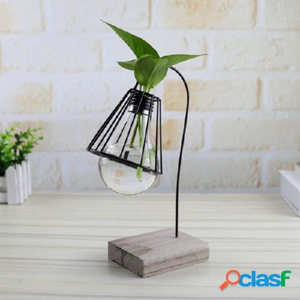 Estilo moderno creativo de las plantas hidropónicas modelo de soporte de lámpara para la decoración de la sala de estar