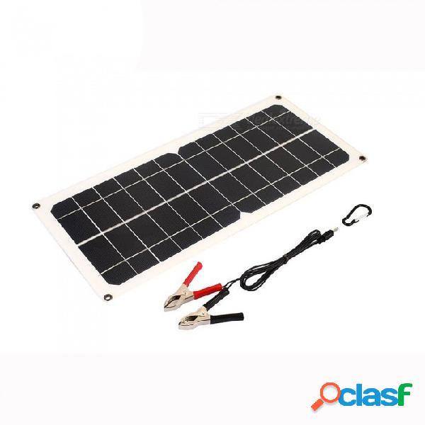 Fuente de alimentación de emergencia del generador solar de emergencia del generador solar de esamact luz solar del viaje 10w 18v usb + dc del puerto