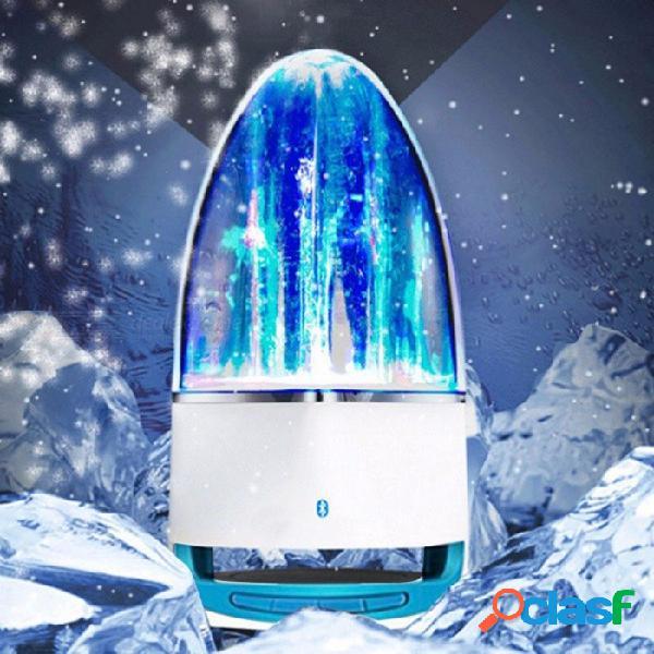 Moda led música fuente subwoofer agua danza bluetooth altavoz estéreo bajo música para iphone, samsung, huwei, ipad azul / altavoz