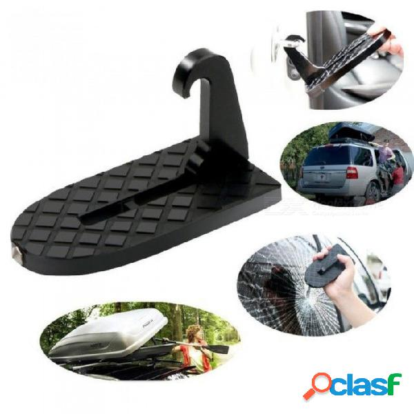 Moki puerta en forma de u con pestillo y función de martillo de seguridad para un fácil acceso al portaequipajes del techo del automóvil, puerta para el coche negro