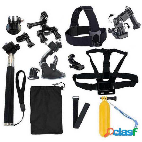 Juego de accesorios para cámaras deportivas 18-en-1 para gopro hero 4/3 / 3+ / sj4000 / sj5000 / sjcam / xiaoyi