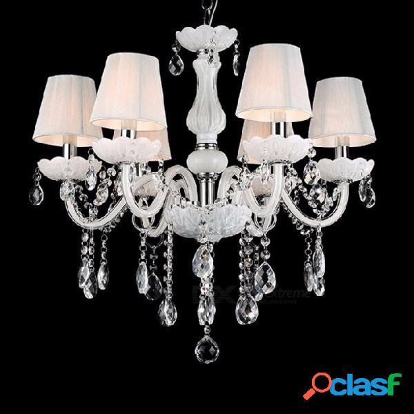 Nuevas y modernas lámparas de cristal blanco, lámpara colgante de techo para sala de estar, iluminación interior, decoración 6light