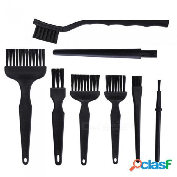 Ojade 8 unids / lote esd safe anti-static brush set herramienta de limpieza para teléfono móvil tablet pcb bga reparación de trabajo