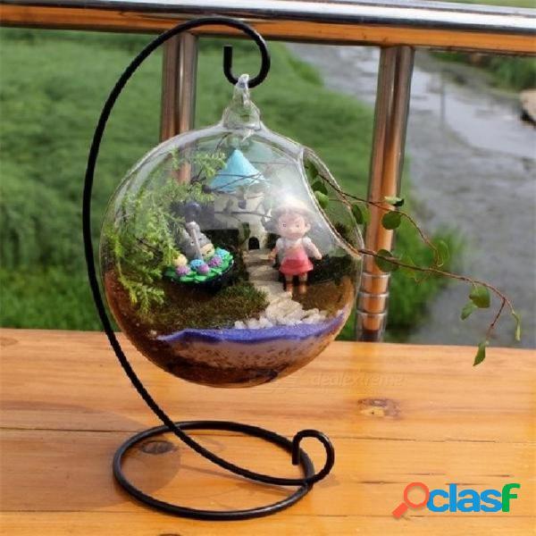 Vaso de vidrio bola vaso de acuario tanque de peces colgando maceta de flores planta hidropónica florero cristal del hogar y decoración de cristal transparente