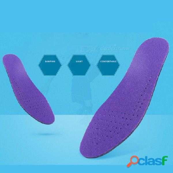 Zapatillas de deporte corrientes plantillas almohadillas hi-poly transpirable a prueba de sudor suave amortiguación plantillas hombre zapato zapato gris claro