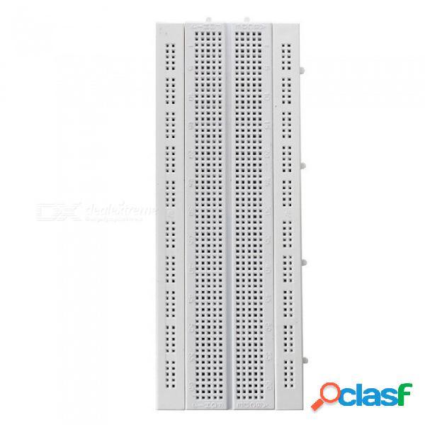 Zhaoyao breadboard gl-12 prueba de tablero de pan pcb sin soldadura de 840 puntos desarrollada diy para arduino