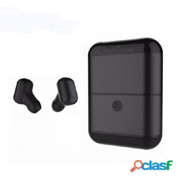 Zhaoyao mini ipx5 nano impermeable inalámbrico bluetooth para auriculares con micrófono estéreo, caja de carga independiente iphone