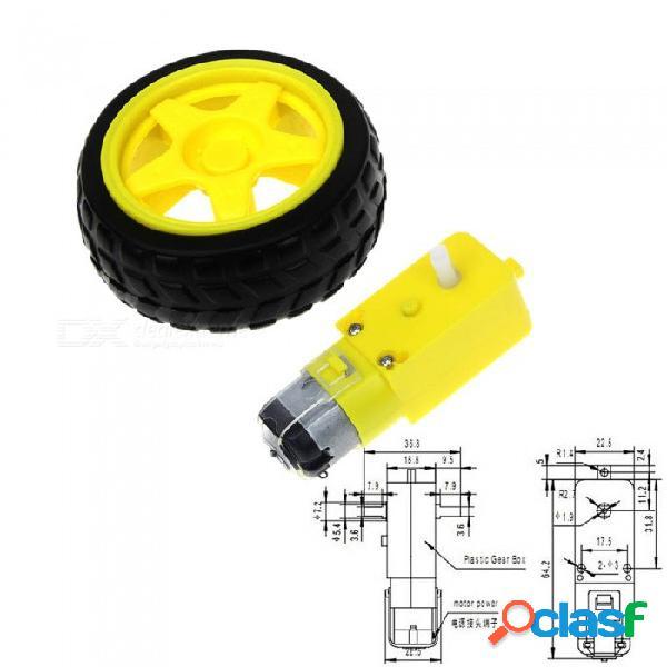 Motor inteligente coche robot de engranajes para arduino kit de bricolaje ruedas coche inteligente chasis motor robot de control remoto coche