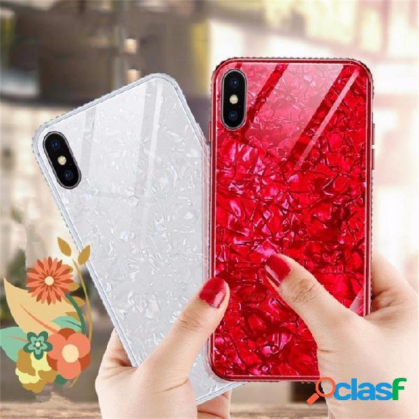 Nuevo teléfono móvil con brillo, taladro con flash, teléfono móvil para protección de diamante, pc + tpu para iphone x