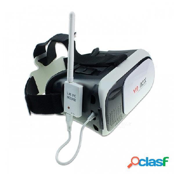 Receptor portátil mini otg fpv, receptor mini fpv 5.8g 150ch para video descendente uvc otg vr teléfonos android negro otg y vr