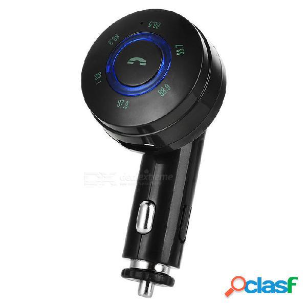 Bluetooth reproductor de mp3 y transmisor de fm kit de manos libres w / usb 2.0 cargador / tf ranura para tarjetas - negro