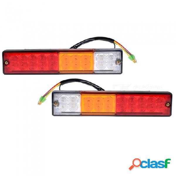 Coche 12v / luz de cola de remolque súper brillante de 20 v de alta calidad y 20 led, luz trasera led de camión (2 pcs)