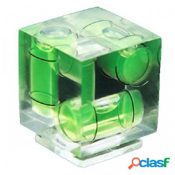 Fotografía apropiadamente cubierta de la zapata de nivel tridimensional de burbuja - transparente + verde