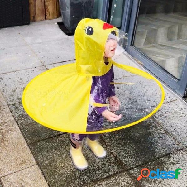Impermeable creativo ufo niños impermeable amarillo pato lluvia cubierta impermeable niños niños paraguas cubierta al aire libre jugar amarillo